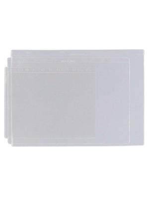 Funda Grafoplas 4 taladros PVC 100µ A3 Caja 100u.