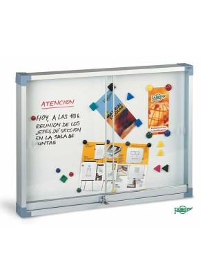 Vitrina imantada Faibo con puertas de metacrilato 100x146cm