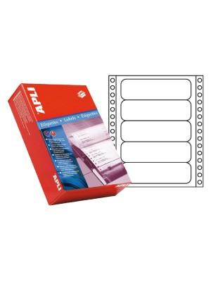 Caja 500h. etiquetas Apli impresora maticial 88,9x36mm. 4000 etiquetas