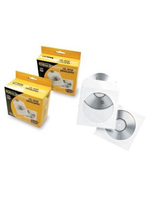 Pack 50 sobres CD Fellowes Blanco
