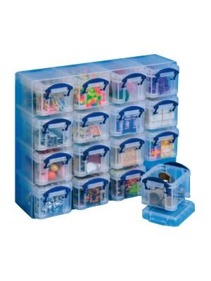 Caja multiusos Archivo 2000 organizadora con 16 compartimentos de 66x280x224mm. y 0,14l. Cada uno Transparente