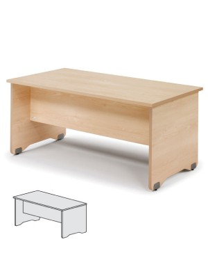Mesa rectangular Serie Work 160x80x72cm. Alumino/Gris