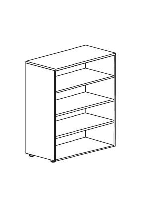 Armario librería Serie Premier 181x40x80cm. Incluye 4 estantes. Blanco