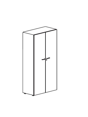 Armario puertas completas Serie Premier 181x42x80cm. Incluye 4 estantes.  Blanco/Blanco