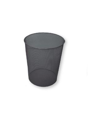 Papelera metálica de rejilla 37x ø 24cm. 18l. Cromado