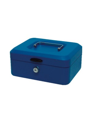 Caja de caudales con bandeja 200x95x150mm. Azul