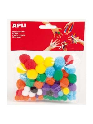 Bolsa 78 pon pon Apli colores surtidos
