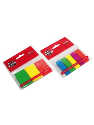 Blister 5 marcadores Fixo Notes PET 13x43mm. 25h.x 5 colores Neón Surtidos