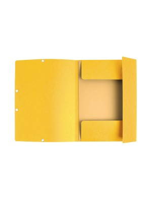 Carpeta de cartón 355g. Nature Future. Con gomas y 3 solapas.  etiqueta en el lomo A4 Amarillo