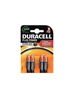 Blister 4 pilas Duracell Plus Power AAA