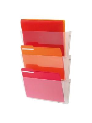 Portafolletos de pared Archivo 2000 Incluye kit de montaje 3 bandejas Horizontal A4