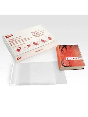 Caja 100 forro libros Apli PVC 130µ 280mm transparente
