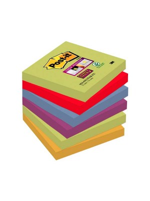 Pack 6 blocs notas Post-it Super Sticky 76x76mm. Marrakesh